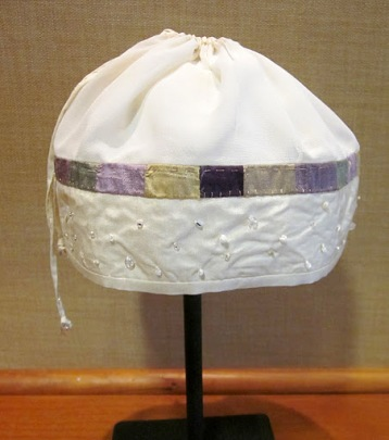 """Karen Chisvin """"From Her Lips to G-d's Ears; Headwear for Hannah"""""""