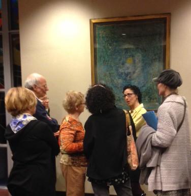 Myriam Nafte discussing her work