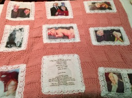 Anna VanDelman - heirloom family tree quilt with photo transfers