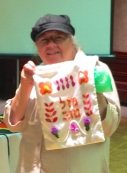 Elaine Genesove - with tenaim bag 2