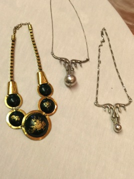 Helen Tucker - necklaces in silver, with a favourite silver ball