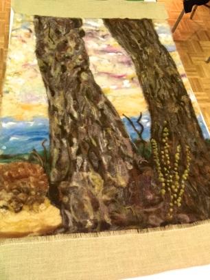 Jessie Caryll - felted tree with Torah