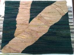 Juana Sleizer - woven wall hanging (bamboo)