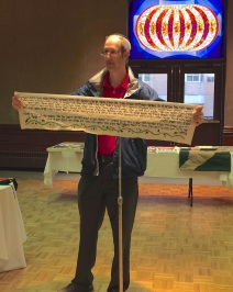 Mitchell Sutton (guest) - with cross stitch Torah portion