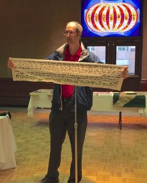 Mitchell Sutton (guest) - with cross stitch Torah portion