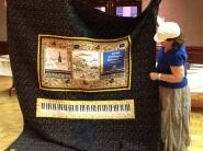 Paula Miller - with XXL t-shirt quilt (back)