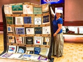 Paula Miller - with XXL t-shirt quilt (front)