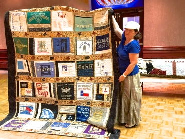 Paula Miller - with XXL t-shirt quilt (front)