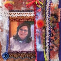 Reesa Wasser - textile self-portrait