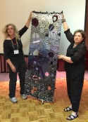 Susan Avishai (guest) - wall hanging with recycled garments (with Laya and Rikki supporting)