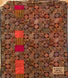 Arlette's quilt for great-grandchild, reverse