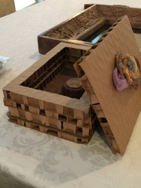 Bracelet box and framed artists' statement